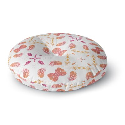 Alison Coxon Aztec Feather Repeat Round Floor Pillow Size: 23 x 23