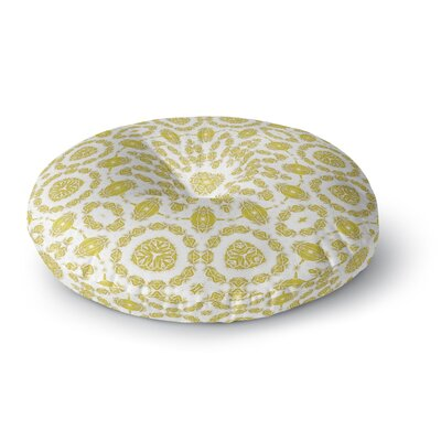 Alison Coxon Flaxen Mandala Round Floor Pillow Size: 23 x 23