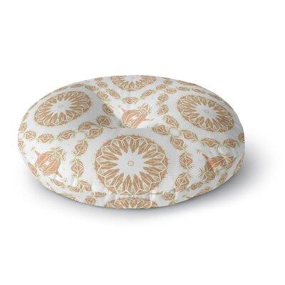 Alison Coxon Citrine Mandala Tile Round Floor Pillow Size: 23 x 23