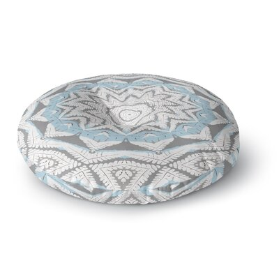Alison Coxon Plant House Mandala Round Floor Pillow Size: 26 x 26, Color: Beige/Blue