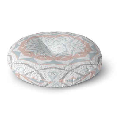 Alison Coxon Plant House Mandala Round Floor Pillow Size: 26 x 26, Color: Blue/Coral