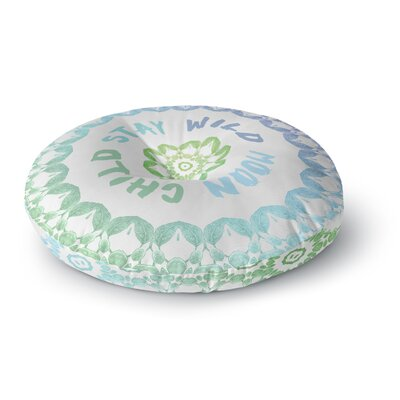 Alison Coxon Stay Wild Moon Child Round Floor Pillow Size: 26 x 26