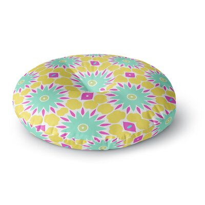 Alison Coxon Summer Bright Floral Round Floor Pillow Size: 23 x 23