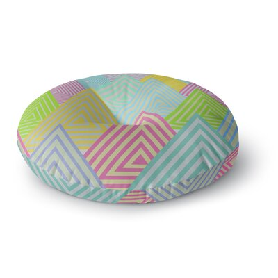 Angelo Cerantola Pastel Mountains Pastel Round Floor Pillow Size: 26 x 26