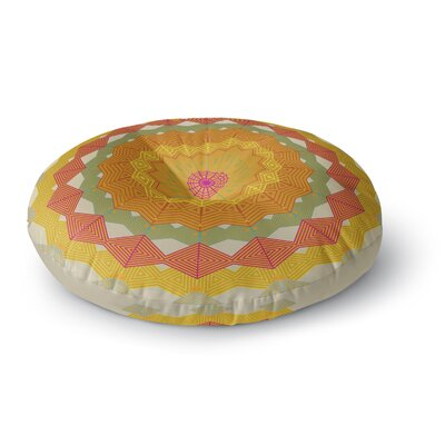 Angelo Cerantola Composition Round Floor Pillow Size: 23 x 23, Color: Orange/Beige