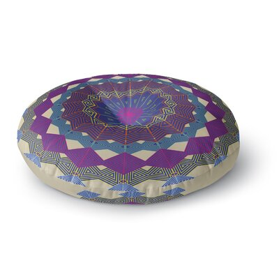 Angelo Cerantola Composition Round Floor Pillow Size: 26 x 26, Color: Lavender/Beige