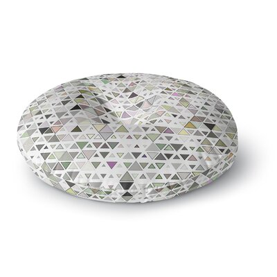 Angelo Cerantola Triangulation Geometric Round Floor Pillow Size: 26 x 26