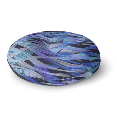 Angelo Cerantola Tropical Electric Abstract Round Floor Pillow Size: 26 x 26, Color: Black