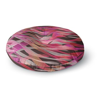 Angelo Cerantola Tropical Electric Abstract Round Floor Pillow Size: 23 x 23, Color: Purple