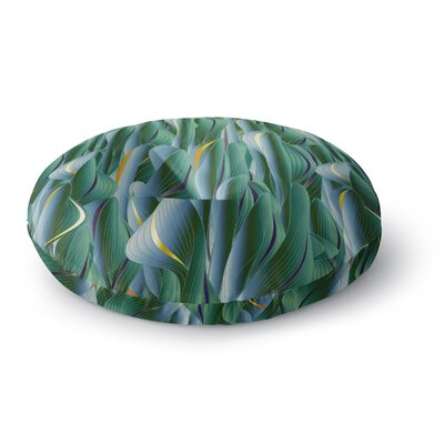 Angelo Cerantola Luscious Digital Round Floor Pillow Size: 23 x 23, Color: Green/Blue