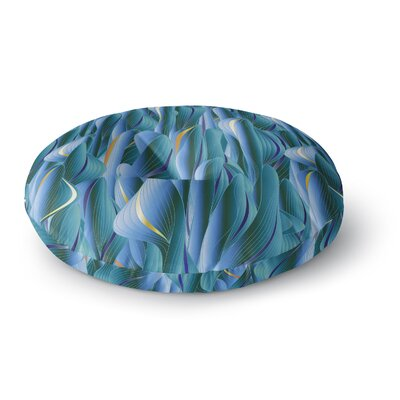 Angelo Cerantola Luscious Digital Round Floor Pillow Size: 26 x 26, Color: Blue/Orange