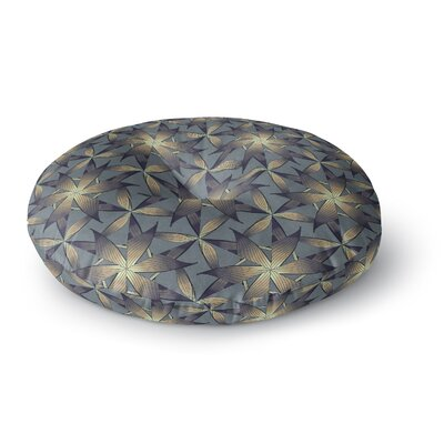Angelo Cerantola Copper Flowers Illustration Round Floor Pillow Size: 26 x 26