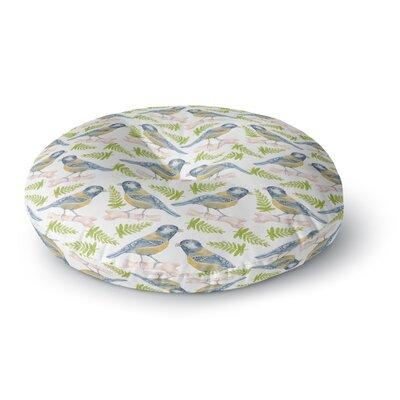 Alisa Drukman Bird Tit Round Floor Pillow Size: 26 x 26
