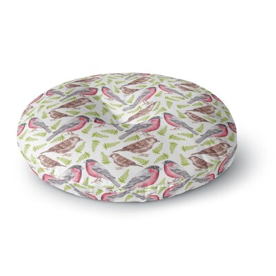 Alisa Drukman Sparrow and Bullfinch Round Floor Pillow Size: 23 x 23