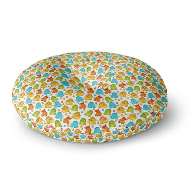 Alisa Drukman Good Monsters Round Floor Pillow Size: 26 x 26