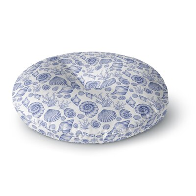 Alisa Drukman Seashells Round Floor Pillow Size: 23 x 23, Color: Blue