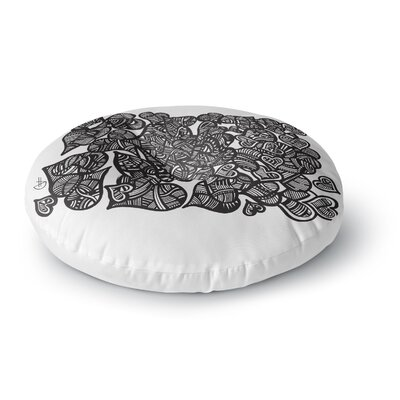 Adriana De Leon Hidden Hearts Round Floor Pillow Size: 26 x 26