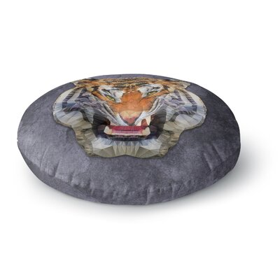 Ancello Abstract Tiger Round Floor Pillow Size: 26 x 26
