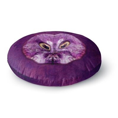 Ancello Hoot! Owl Round Floor Pillow Size: 26 x 26