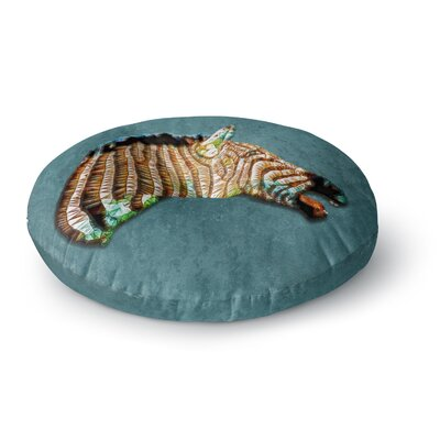 Ancello Laughing Zebra Round Floor Pillow Size: 23 x 23