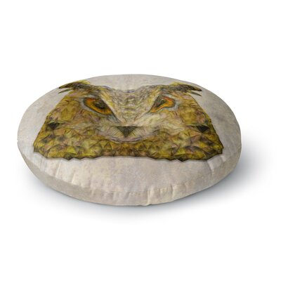 Ancello Abstract Owl Round Floor Pillow Size: 23 x 23