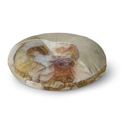 Ancello Abstract Dog Geometric Round Floor Pillow Size: 26 x 26