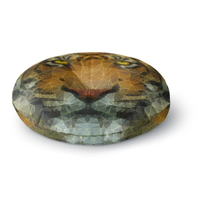 Ancello Be Wild Geometric Round Floor Pillow Size: 26 x 26