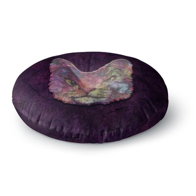 Ancello Rainbow Cat Pastel Round Floor Pillow Size: 23 x 23