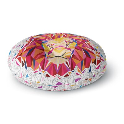 Ancello Rainbow Lion Digital Round Floor Pillow Size: 26 x 26