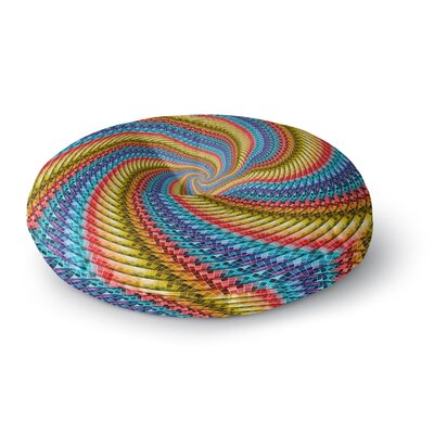 Ancello Round Spirals Digital Round Floor Pillow Size: 26