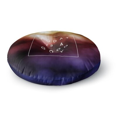 Galaxy Eyes Good Day Rainbow Round Floor Pillow Size: 26 x 26