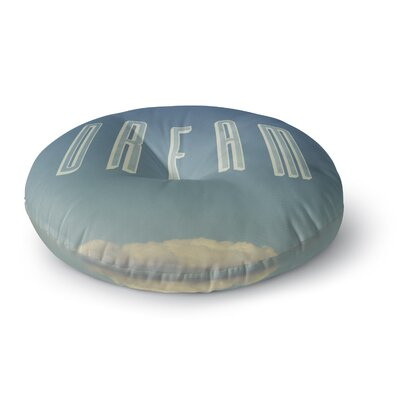 Galaxy Eyes Dream Print Round Floor Pillow Size: 23 x 23