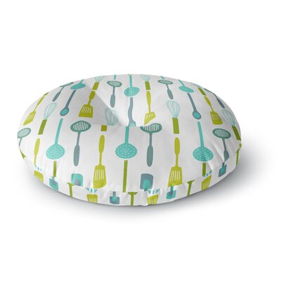 Afe Images Kitchen Utensils Round Floor Pillow Size: 23 x 23