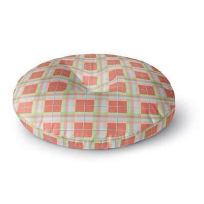 Afe Images Summer Plaid Pattern Round Floor Pillow Size: 23 x 23