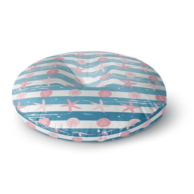 Afe Images Starfish and Sand Dollar Pattern Round Floor Pillow Size: 26 x 26