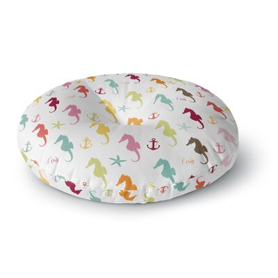 Afe Images Seahorse Pattern Round Floor Pillow Size: 23 x 23