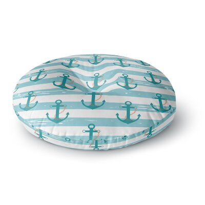 Afe Images Nautical Anchor Pattern Round Floor Pillow Size: 23 x 23