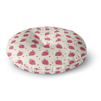 Afe Images Chocolate Strawberries Pattern Round Floor Pillow Size: 26 x 26