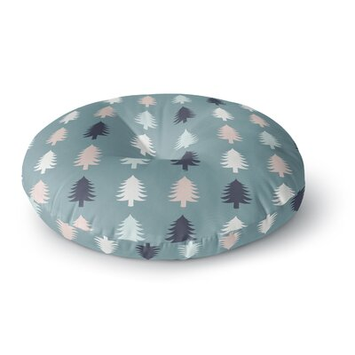 Afe Images Christmas Tree Silhouettes Round Floor Pillow Size: 26 x 26