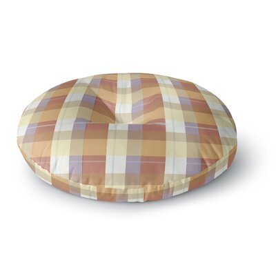Afe Images Plaid Pattern Round Floor Pillow Size: 26 x 26