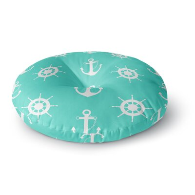 Afe Images Anchor and Helm Wheel Round Floor Pillow Size: 26 x 26