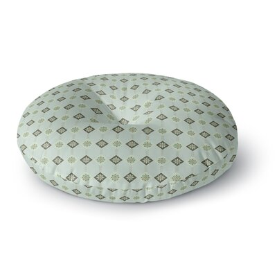 Afe Images Triangles and Flowers Round Floor Pillow Size: 26 x 26