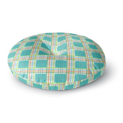 Afe Images Modern Plaid Pattern Round Floor Pillow Size: 23 x 23