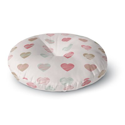 Afe Images Hearts Pattern Round Floor Pillow Size: 26 x 26