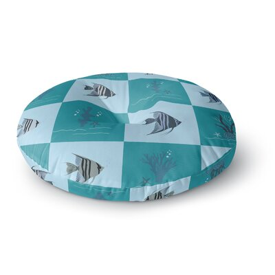 Afe Images Angelfish Pattern Round Floor Pillow Size: 23 x 23