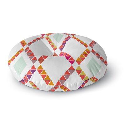 Pellerina Design Aztec Diamonds Geometric Round Floor Pillow Size: 23 x 23