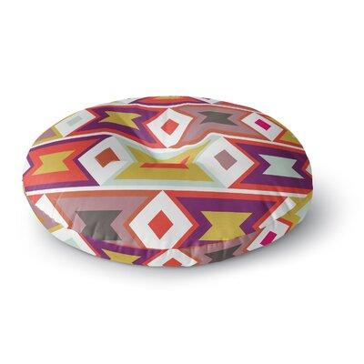 Pellerina Design Aztec Weave Round Floor Pillow Size: 23 x 23