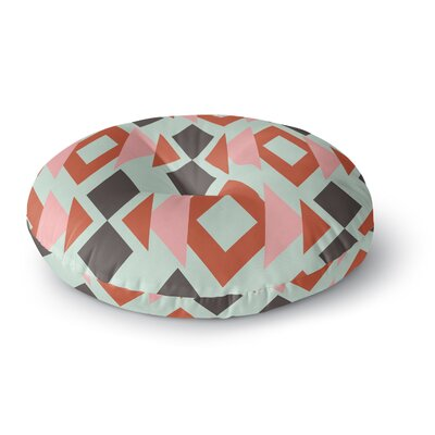 Pellerina Design Triangle Weave Round Floor Pillow Size: 23 x 23