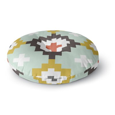 Pellerina Design Moroccan Diamonds Round Floor Pillow Size: 23 x 23, Color: Yellow/Green