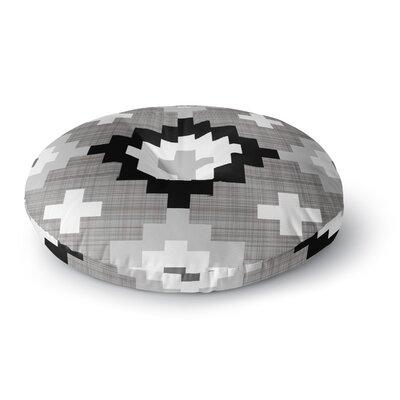 Pellerina Design Moroccan Diamonds Round Floor Pillow Size: 26 x 26, Color: Gray